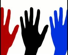 Waving hand V8 - PAL Stock Footage