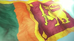 3d flag Sri Lanka - stock footage