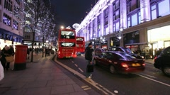 Oxford Street at Christmas Stock Footage
