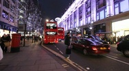 Stock Video Footage of Oxford Street at Christmas
