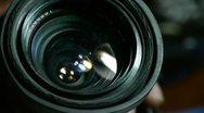 Stock Video Footage of Manually adjust camera lens.