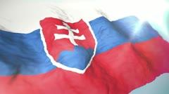 3d flag Slovakia Stock Footage