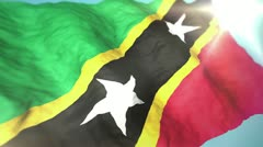 3d flag Saint Kitts and Nevis Stock Footage