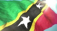 Stock Video Footage of 3d flag Saint Kitts and Nevis