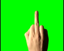Middle finger V3 - PAL Stock Footage