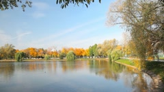 Stock Video Footage of Novodevichy Convent pond