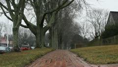 Rural Sidewalk - stock footage