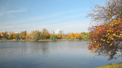 Novodevichy Convent  pond - stock footage