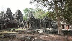 Pan of Banteay Kdei Stock Footage