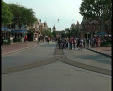 Disneyland crowds V2 - PAL Stock Footage