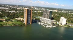 Aerial view of condos Stock Footage