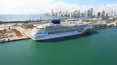 Port of Miami Stock Footage