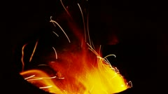 Beautiful brilliant flame,fly line,particle. Stock Footage