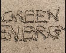 Green energy sand V2 - PAL Stock Footage
