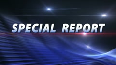 SPECIAL REPORT Breaking News Bumper - stock footage