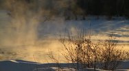 Stock Video Footage of Mist rising off river in winter.