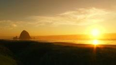 Warm Beach Sunset Stock Footage