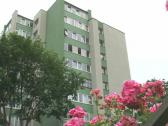 Multistory house flowers Stock Footage
