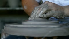 Pottery lid - stock footage