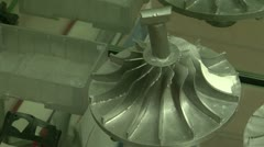Impeller for turbine Stock Footage