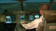Aviation simulator Stock Footage