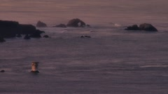 Mile Rock and Land's End SF Bay Morning Stock Footage