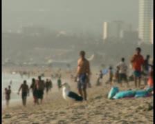 Bathers on beach - PAL Stock Footage