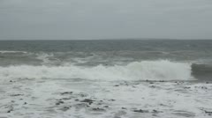 Robben Island from Three Anchorbay stormy weather Stock Footage