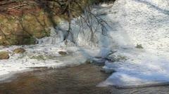 Falls frozen in winter. Stock Footage