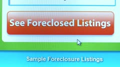 """""""See Foreclosed Listings"""" Button, Find click. Internet Search Engine. Stock Footage"""