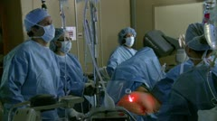 Robotic hysterectomy surgery (11 of 15) Stock Footage