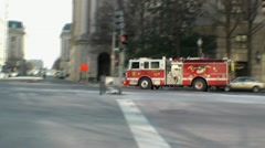 Fire Engine Downtown DC Stock Footage