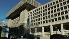 Slow tilt, J. Edgar Hoover FBI Building, Wide shot, DC - stock footage