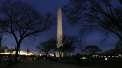 Evening -Washington Monument, from The Mall Stock Footage
