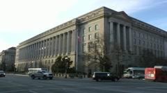 IRS Headquarters Building, Washington, DC, wide shot Stock Footage