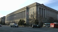 Stock Video Footage of IRS Headquarters Building, Washington, DC, wide shot