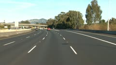 Driving Highway 101 North - Novato 1 Stock Footage