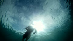 Float to the Surface Stock Footage