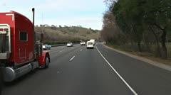 Freeway I80 itään kohti Sacramento 2 Arkistovideo