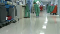 Stock Video Footage of Low angle of hospital hallway (2 of 2)