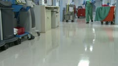Low angle of hospital hallway (1 of 2) Stock Footage