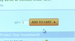"""Add to Cart"" button. Internet Shopping. Stock Footage"