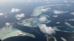 Maldives islands aerial 07 Stock Footage