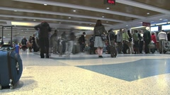 Seattle Airport Concourse Loading Gates Time Lapse Stock Footage