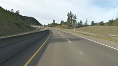 101 Freeway North POV - Cloverdale Hill toward Hopland Stock Footage