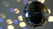 Full mirror ball; blue and white light Stock Footage