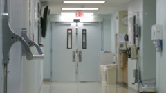 Scene from a hospital hallway (2 of 3) Stock Footage