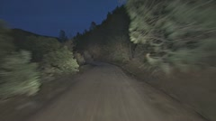 Dirt Road at Night POV Driving 1 Stock Footage