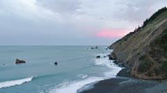 Early Morning California North Coast Overlook 1 Stock Footage