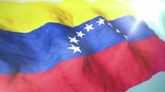 3d flag Venezuela Stock Footage